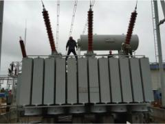 Photo of 252kV Transformer Bushing Installation in Enshi, Hubei Province